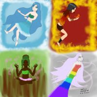 Four Elements by marinuk-pencilpower