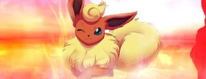 Flareon Signature - Born to burn by HarukaQuinn