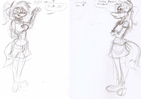 Stacey and Nikki -Young Adults comparison- by Django90