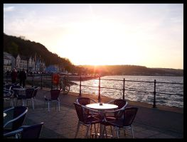Sunset in Mumbles I by makibird