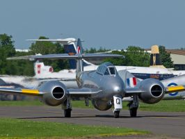 Gloster Meteor Taxi Duxford by davepphotographer