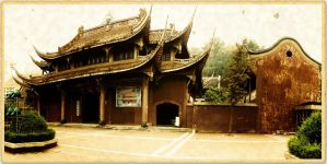 Buddhist Temple in Fushun Sichuan China by davidmcb