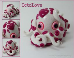 Valentine's Day Octopus pink and white by ShaidySkyDesign