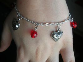 Strawberry Fields Bracelet by crazylama