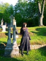 graveyard girl stock 04 by Mariedark-stock