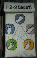 Rock, Paper, Scissors, Lizard, Spock Case Pattern by rhaben