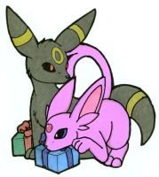 Espeon and Umbreon pattern by tierafoxglove