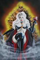 Lady Death On her throne by Spanglerart