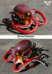 Edward Tentacles the Gourd Octopus by ART-fromthe-HEART