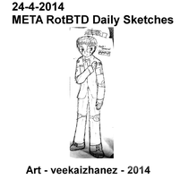 META RotBTD 2014 Daily Sketch 4-24 by veekaizhanez