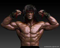 Rambo III - W.I.P. Front view by Andreevsky