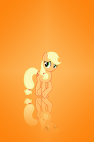 Applejack Simple iPhone background by Snoopy20111