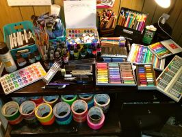 Art Supplies by Cicilicious