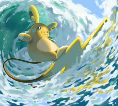 Alolan Surf by PinkGermy