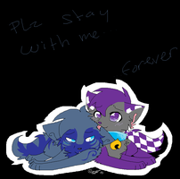 .: Plz Stay with me.. :. by RoxasLover-KH2