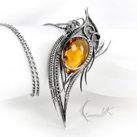 AZDYELL - silver and citrine by LUNARIEEN