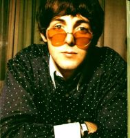 Paul McCartney + round glasses by Sporklie