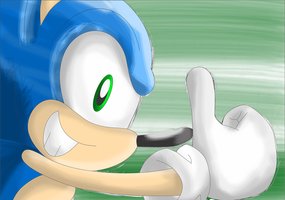 Sonic Running by SonicSpeedz