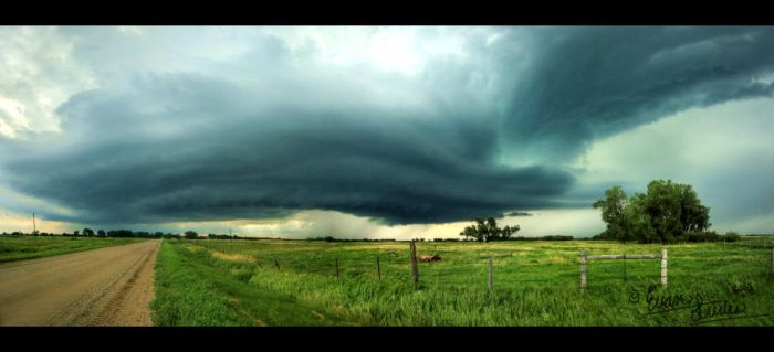 Supercell Panorama by FramedByNature
