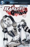 Harley Quinn Roller Derby Sketch Cover by calslayton