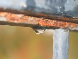 Rust and a drop by amir-stock