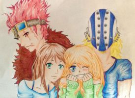 One Piece Kid and Killer with 2 Oc's by The-cute-cat