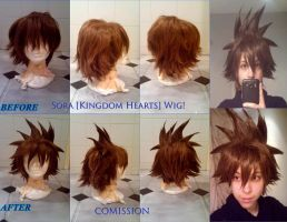 [COMISSIONS] Sora's Wig (Kingdom Hearts II) by AriB-Rabbit