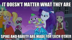 Spike and Rarity are made for each other by SteGhost