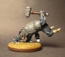 Barak the Rhino Man from Reaper Miniatures by glenkamo