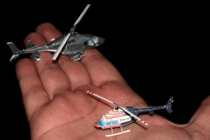 Mini Airwolf paper models by ThunderChildFTC
