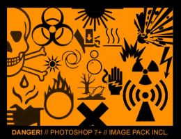 Danger. Photoshop 7 Brushes. by Ch4ron
