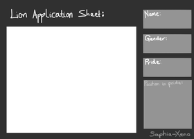 Our-Paw-Prints Application Sheet by Saphia-Xeno