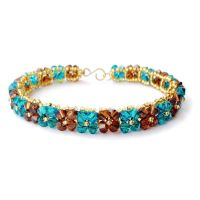 Turquoise and Brown Bracelet by lulabug