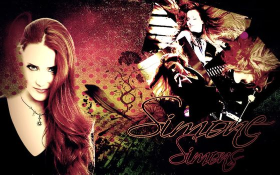 Simone Simons Wallpaper by the-never-fading