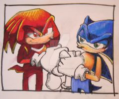 Sonic and Knux by Mannasaurus