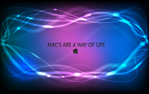 Mac's Are A Way Of Life Wall by goldfish2008