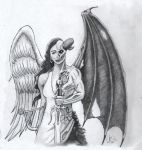 Angel/Demon tattoo concept by Archetypical-G