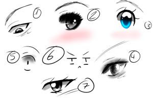 Art Style practice :EYES by Seraphim-Chan