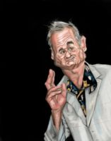 Bill Murray WIP 2 by DoodleArtStudios