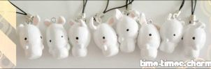 Charm - White Bunnies by timo-timoe
