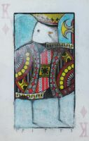 Bird- King of Diamonds ACEO by SethFitts