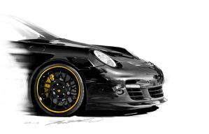 Porsche 911 Turbo by darkdamage