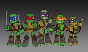 TMNT Chibis with Sal by MetaLatias5