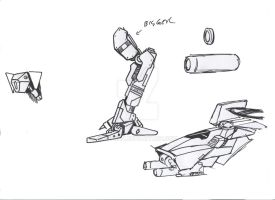DN mecha parts by Jepray