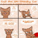 Soji: the un-sneaky cat by SunfallE