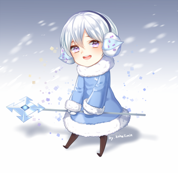 Snow sugar cookie by kthelimit