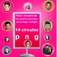 Pack Circulos png Actores saga twilight by Carol05