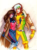Boy Rogue and Girl Gambit by CapnFlynn