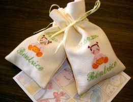 Bags for Beatrice's birth by Vetriz