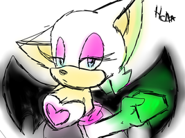 rouge :tablet coloed sketch: by X-RedFox-X